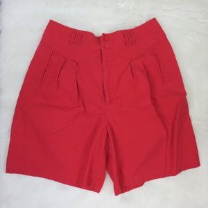 Gitano Red Vintage High Rise Mom Shorts